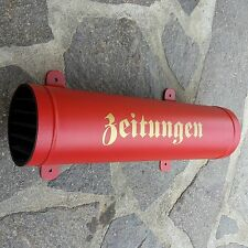 Zeitungsrolle Zeitungsbox Zeitungsfach Rot / Matt Verschlußgitter Zeitungsrollen