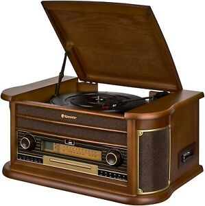 Retro Stereo Roadstar HIF-2030 BT Anlage mit Plattenspieler, Kassette, CD-Player
