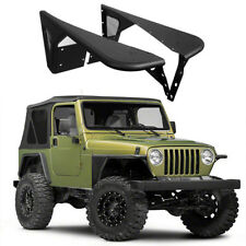 Pair Textured Steel Black Front Fender Flares Guard Fit Jeep Wrangler TJ 97-06