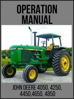 John Deere 4050 4250 4450 4650 4850 Tractor Operation / Technical Manual TM1259