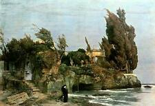 Villa am Meer Arnold Böcklin Melancholie Landschaft Wind Einsam H A3 0085