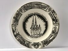 "United States Military Academy West Point Collector Plate Porcelain 10"" Vintage"