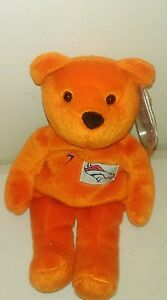 John Elway Broncos Salvino Bammer's with tag plush beanie BEAR NFL Blue number