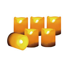 Set of 6 Flameless LED Votive Candles with Dual Timer, 400 Hours Battery Life