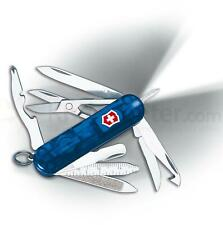 Victorinox Midnite MiniCHAMP Sapphire Blue W/Pen &  LED Light #54974 Swiss Made