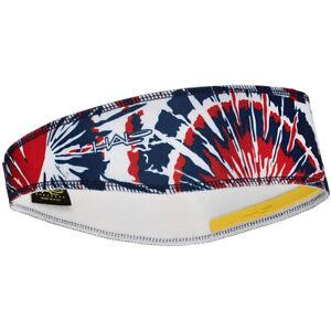 Halo Headband Pullover II Sweatband - Red/White/Blue Tie-Dye