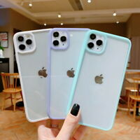 For iPhone 12 11 Pro Max XS XR 8 SE 2nd Shockproof Hybrid Clear Hard Case Cover