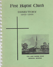 1965-1966 First Baptist Church, Morrow Georgia: Directory & Sanctuary Dedication