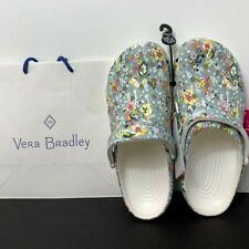 Vera Bradley X Crocs White Floral Classic Slip On Clog Shoes Size 10  New