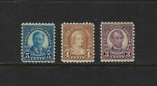 USA Scott # 584-586 F-VF OG LH Rotary Perf 10 US Stamps