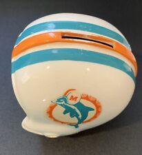 Vintage Miami Dolphins Mini Ceramic Football Helmet Piggy Bank Japan