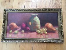 Original Oil Painting Carol Roberts Signed Pottery and Pears Arkansas American