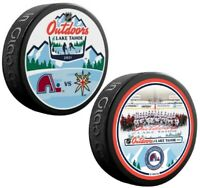 Colorado Avalanche Lake Tahoe NHL Outdoors Official Souvenir Pucks (2-Pack)