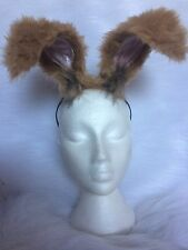 Floppy Mad March Hare Ears Light Brown Rabbit Fancy Dress Unisex One Size New