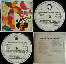 THE KINKS FACE TO FACE STEREO UNIQ CVR SPANISH TEXT WHITE PYE LBL CHILEAN PRESS!