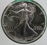 1990 BU American Silver Eagle Dollar Uncirculated ASE US Mint Bullion $1 Coin