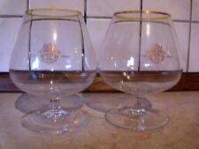 2 Cognac Schwenker Gläser Weinbrand 70er Jahre Anno 1810 Dujardin