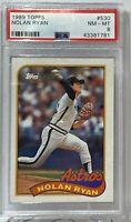 1989 Topps #530 Nolan Ryan PSA NM-MT 8 Houston Astros
