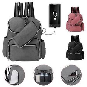Baby Diaper Nappy Mummy Changing bag Backpack Set Multi-Function Hospital Bag U