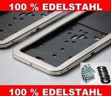 2 Stück EDELSTAHL Kennzeichenhalter Kennzeichenhalterung Edelstahl NEU