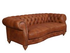 Castlefield Sofa 3 Sitzer Chesterfield Columbia Brown Vintage Leder Möbel Stil