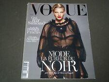 2012 SEPTEMBER VOGUE PARIS MAGAZINE - KATE MOSS - FRENCH FASHION - O 1259