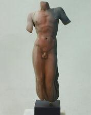 NUDE MALE Statue Figurine Ceramic Sculpture Greek Art  Signed Naked New HANDMADE