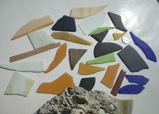 Sea Glass,  Beautiful Lot of Multi Color Stained Glass, Great for Wind Chimes