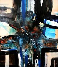 "Moderne Gemälde von Bozena Ossowski Titel "" NIGHT IMPULSE "" Leinwand 140 x120 cm"