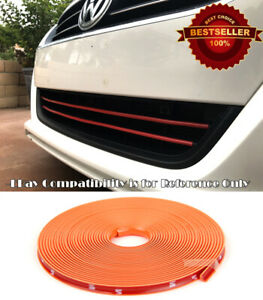 Orange Rubber Overlay Trim Cover For Toyota Scion... Upper Lower Grille Air Dam