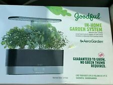 AeroGarden Harvest Slim In Home Garden System by Goodful Black  6 Pods