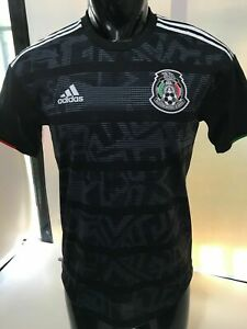 Adidas Mexico Black White Authentic Soccer Jersey 20/21 Size Mens Large NWT