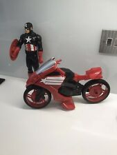 Marvel 12 Inch  Captain America Figure With Shield And Motorbike