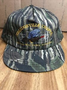 NWTF NATIONAL WILD TURKEY FEDERATION- HUNTING CAMO BALL CAP HAT EMBROIDERED