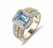 0.85ct Diamond 14k Yellow Gold Princess Engagement Ring