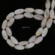 "16"" Pink Peruvian Opal Flat Rice Oval Beads ap. 8x16mm #76189"