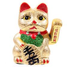 MANEKI NEKO waving chat yeux ouverts 17cm Japonais Chinois décoration cadeau