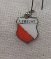Vintage REU Sterling/Enamel Utrecht, Netherlands Shield Charm - New