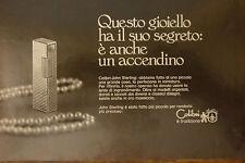 ADVERTISING PUBBLICITA' ACCENDINI COLIBRI' JOHN STERLING - 1972