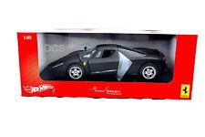 HOT WHEELS FERRARI F60 ENZO MATT BLACK 1/18 DIECAST CAR  B6055