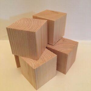 PINE CUBES WOODEN BLOCKS 12 Pack Craft Supplies Blanks Baby Blocks 45mm