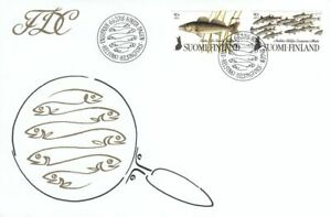 Fishing Nordic Fishes Pike Perch Zander Vendace Flock Finland Mint FDC 2018