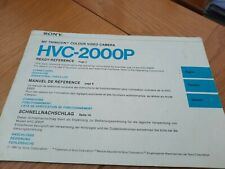 Hvc-2000p Colour video  Camera Manual