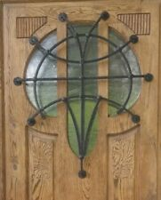 Haustür Eingangstür Holztür massiv Eiche Jugendstil Historische Gründerzeit NEU