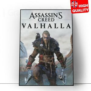 Assassin's Creed Valhalla 2020 Video Game Poster | A5 A4 A3 A2 A1 |