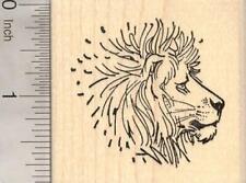 Lion Profile Rubber Stamp, Wildlife, Big cat H18531 WM