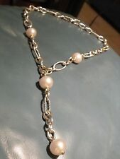 David Yurman SS South Sea Pearl Y- Necklace