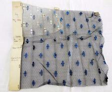 Vintage 1920's French Sequin on Net Dress Fabric Trim Panel - Shop Sample