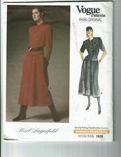 Vogue #1928 Designer: Karl Lagerfeld Top and Skirt Pattern Sz:10 Cut/Complete