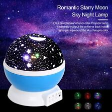 LED Night Light Baby Kids Ceiling Lamp Moon Star Sky Projector Rotating Children